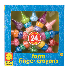 ALEX Toys Farm Finger Crayons