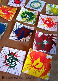 Spin Art, Art, Bunting, DIY, crafts, kids, arts & crafts, kid's arts & crafts, moms, parenting, paint