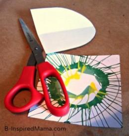 bunting, diy, crafts, art, paint, spin art