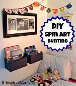 Spin Art, bunting, DIY, crafts, paint, art, kid's arts & crafts