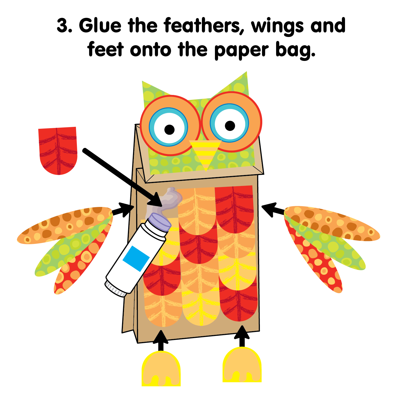 Easy-To-Make DIY Brown Paper Bag Owl Puppet   Kidsomania   1500x1500