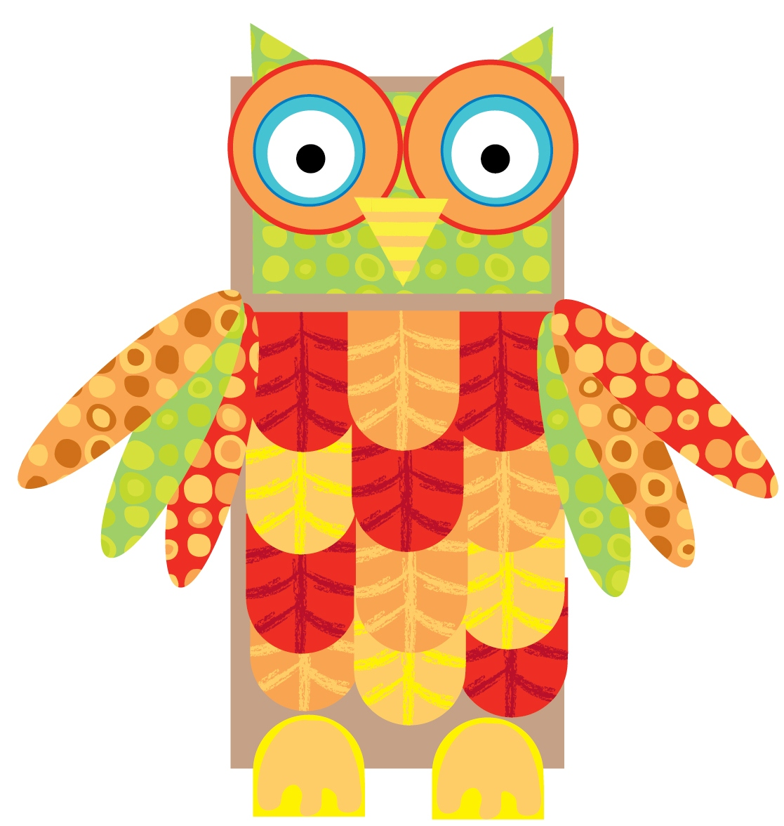 Printable paper bag owl alex toys official blog for Alex toys craft color a house children s kit