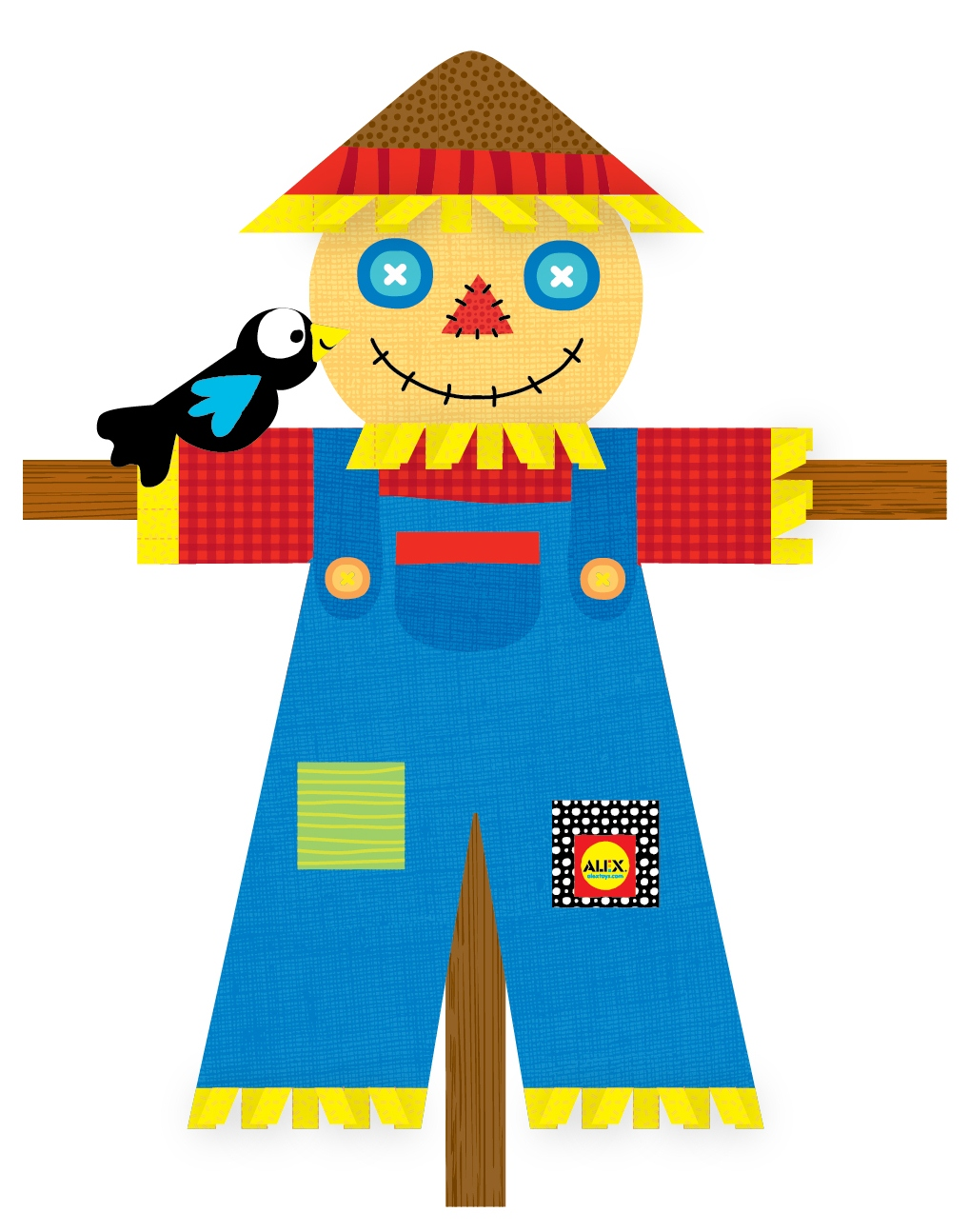 graphic regarding Printable Scarecrows named Printable: Organized, Preset, Scarecrow! ALEX Toys Formal Site